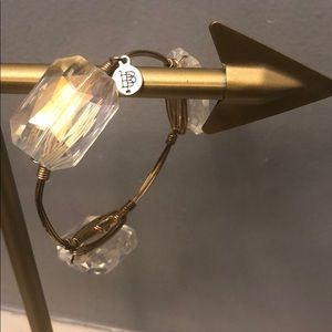 Bourbon and Bowties clear gem bracelet
